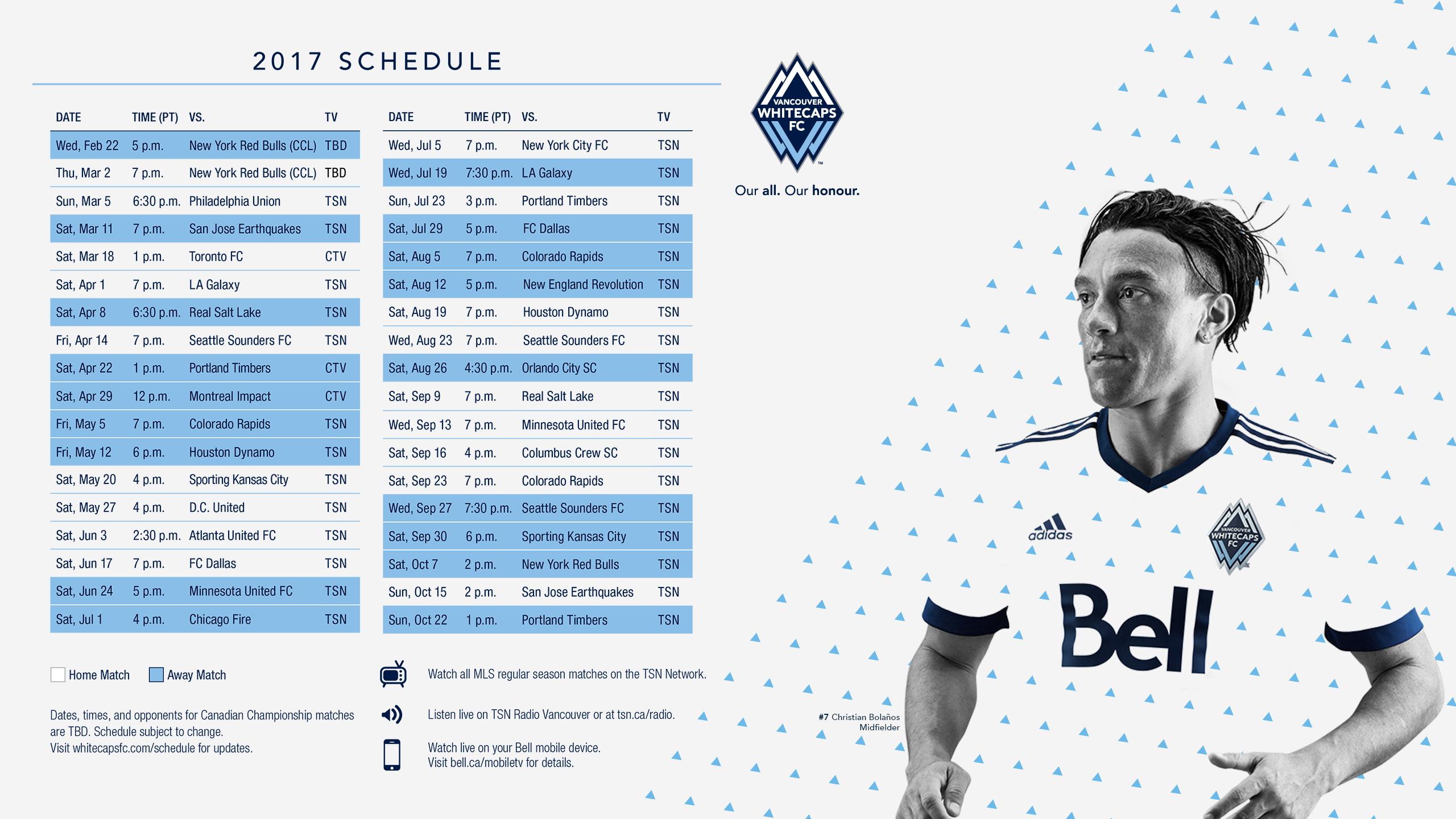 Wallpapers Vancouver Whitecaps FC 2560x1440