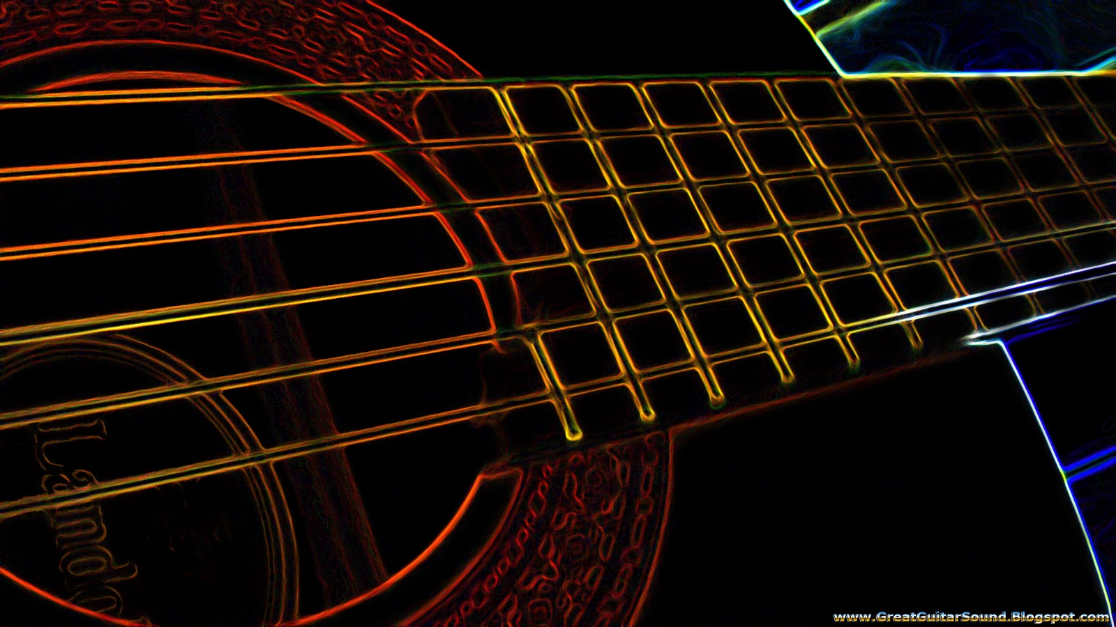 Group Of Cool Country Guitar Wallpaper