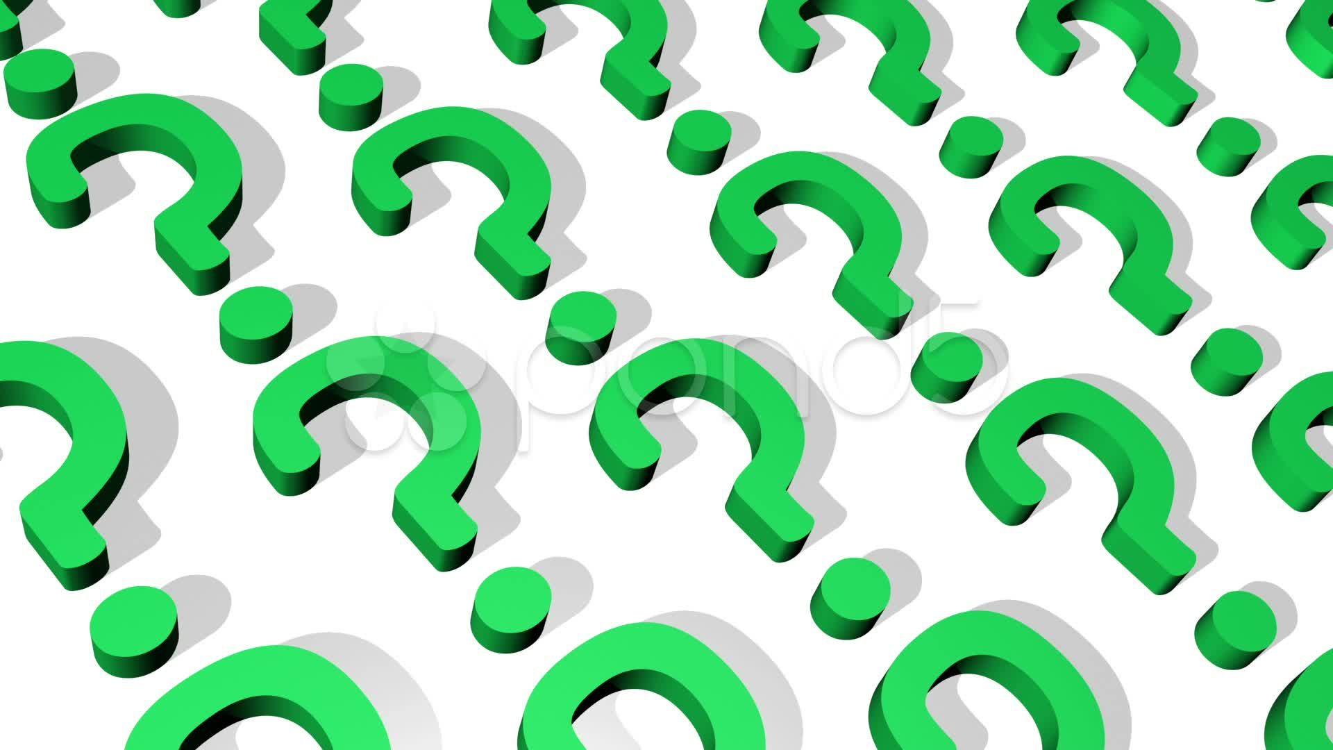Question Mark Background Loop Stock Video 12667919 HD Stock Footage 1920x1080