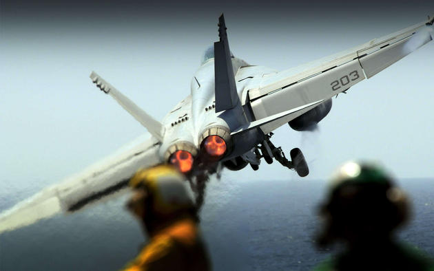 Daily Wallpaper F 18 Carrier Takeoff I Like To Waste My Time 630x394
