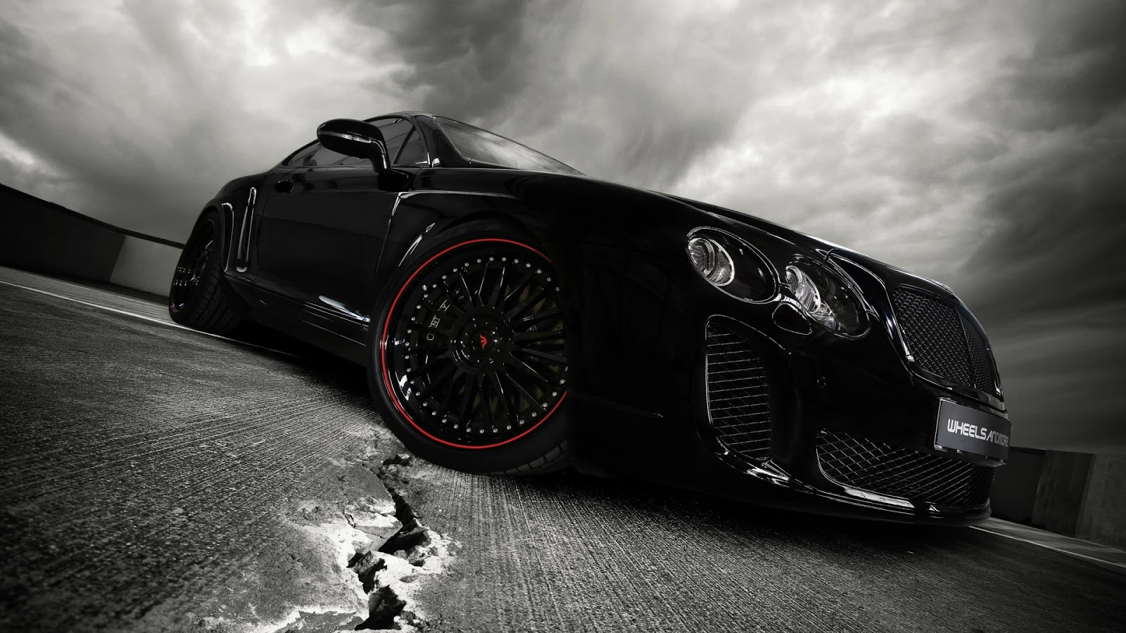 super hd black car wallpaper HD Desktop Wallpapers 1600x900