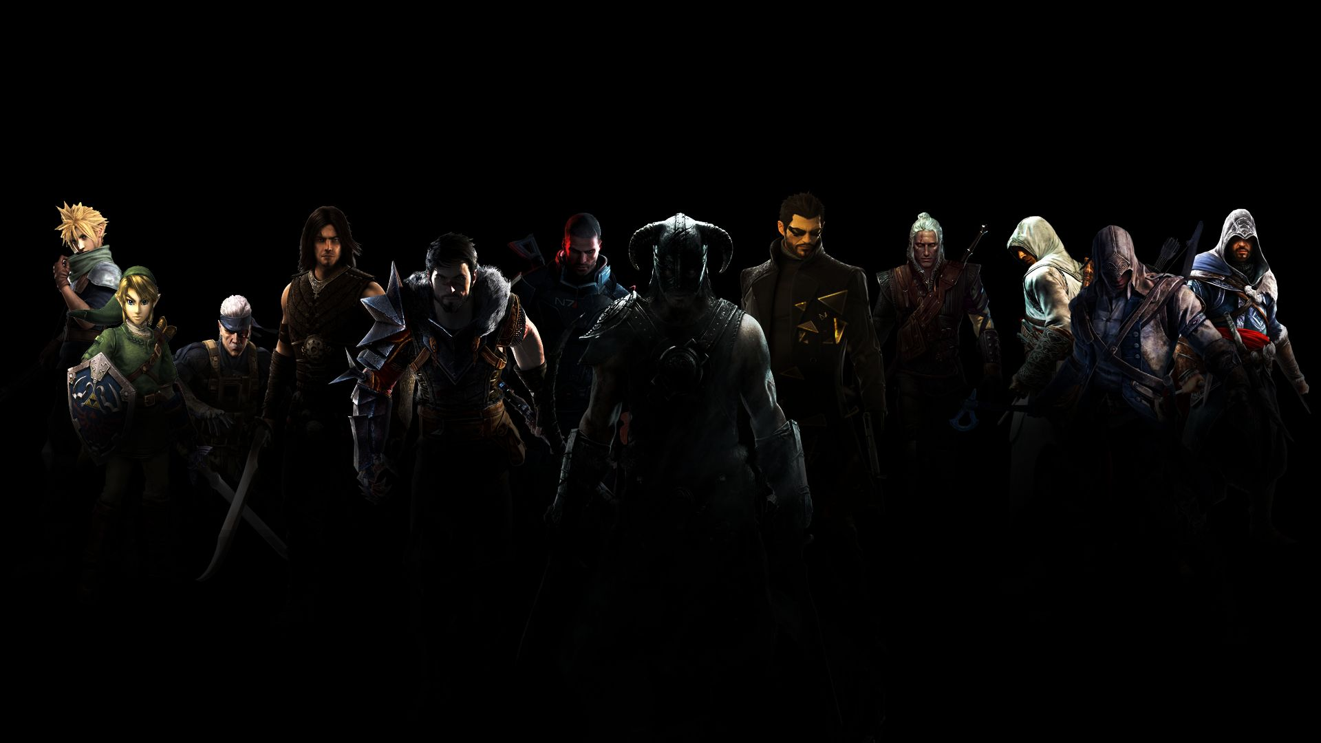 Alpha Coders Wallpaper Abyss Video Game Collage 286249 1920x1080