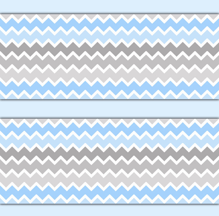 Blue Grey Gray Ombre Chevron Wallpaper Border Wall Decals Baby Boy 700x688