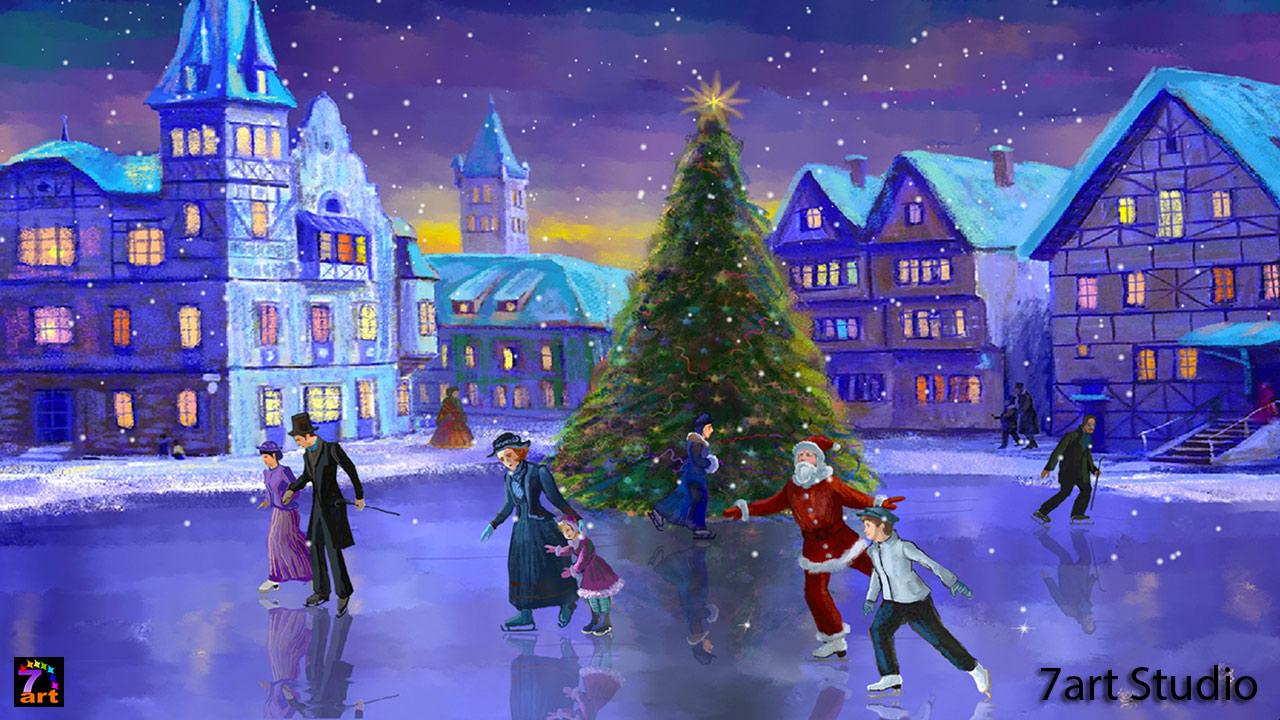 Christmas Download Screensaver Wallpaper 1280x720