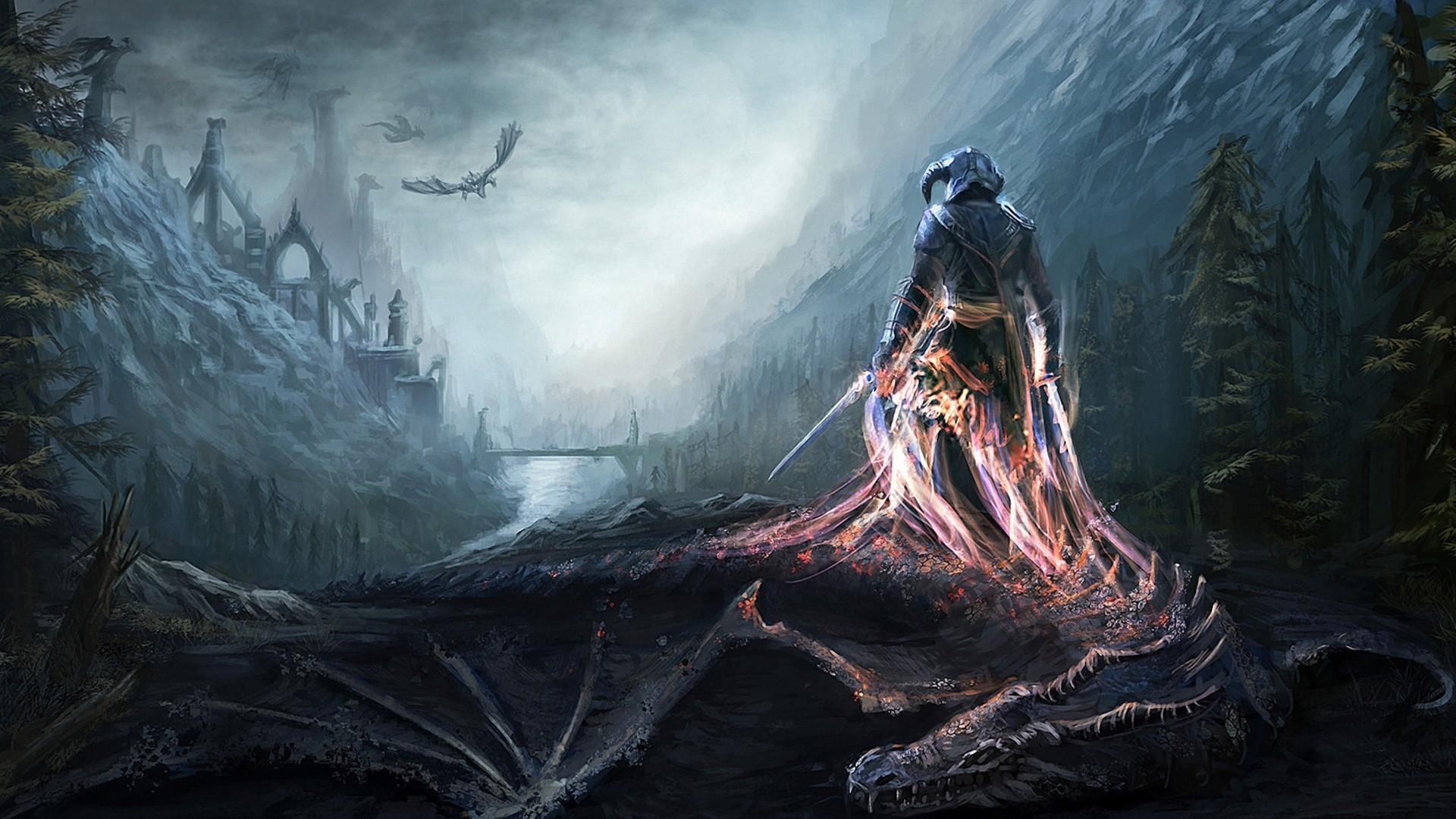 Skyrim Dragon Wallpaper