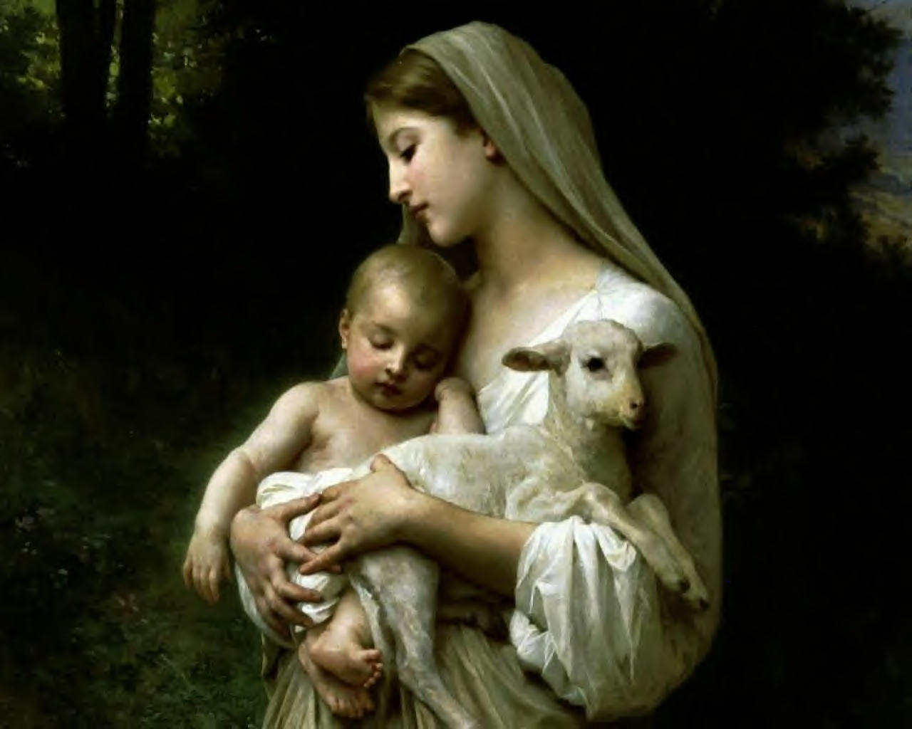 Mother Mary With Baby Jesus Wallpaper