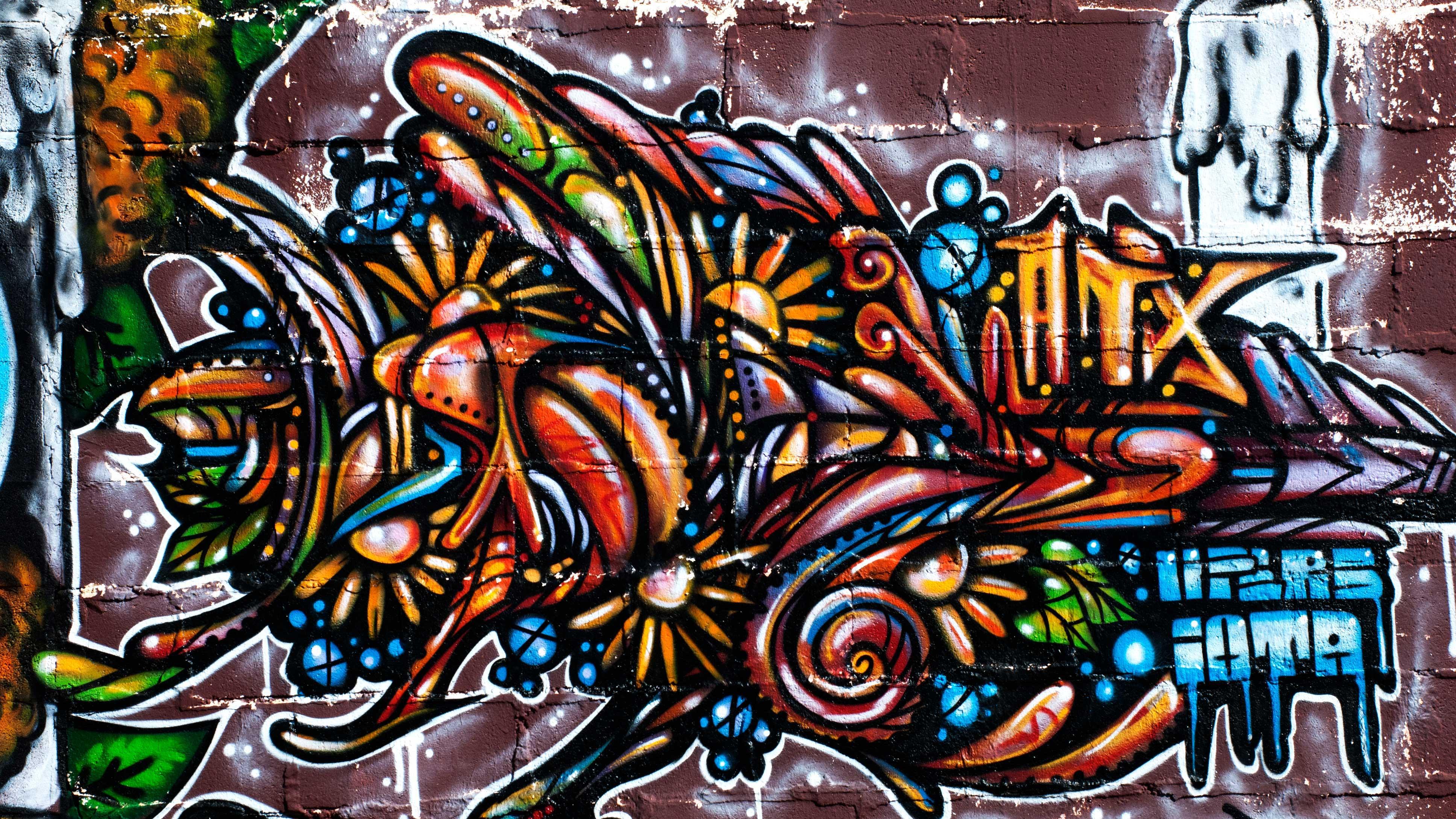 Cool Graffiti Wallpaper Designs Cool colorful 3872x2178