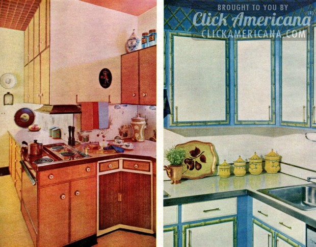 Glam up your kitchen with sixties style   Click Americana 620x484