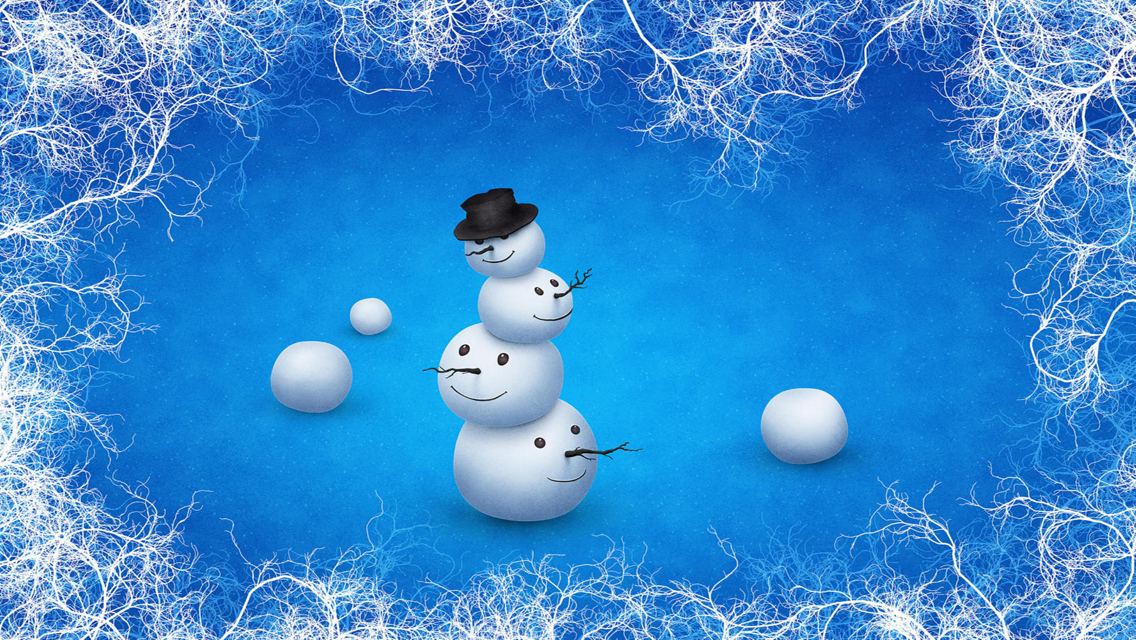 Christmas For Iphone Wallpaper: Country Snowman Wallpaper