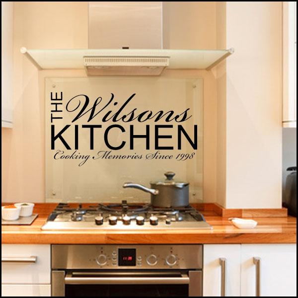 Personalised Kitchen Wall sticker decals 600x600