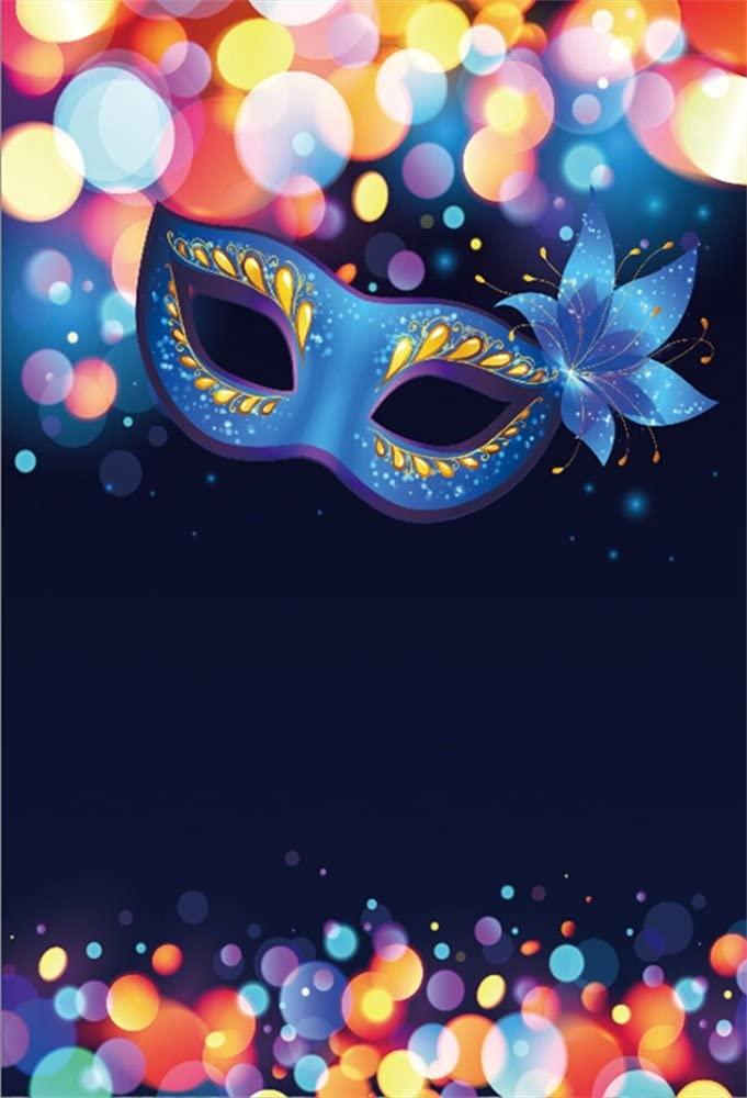 Amazoncom LFEEY 3x5ft Blue Masquerade Mask Backdrop Bokeh Dots 681x1000