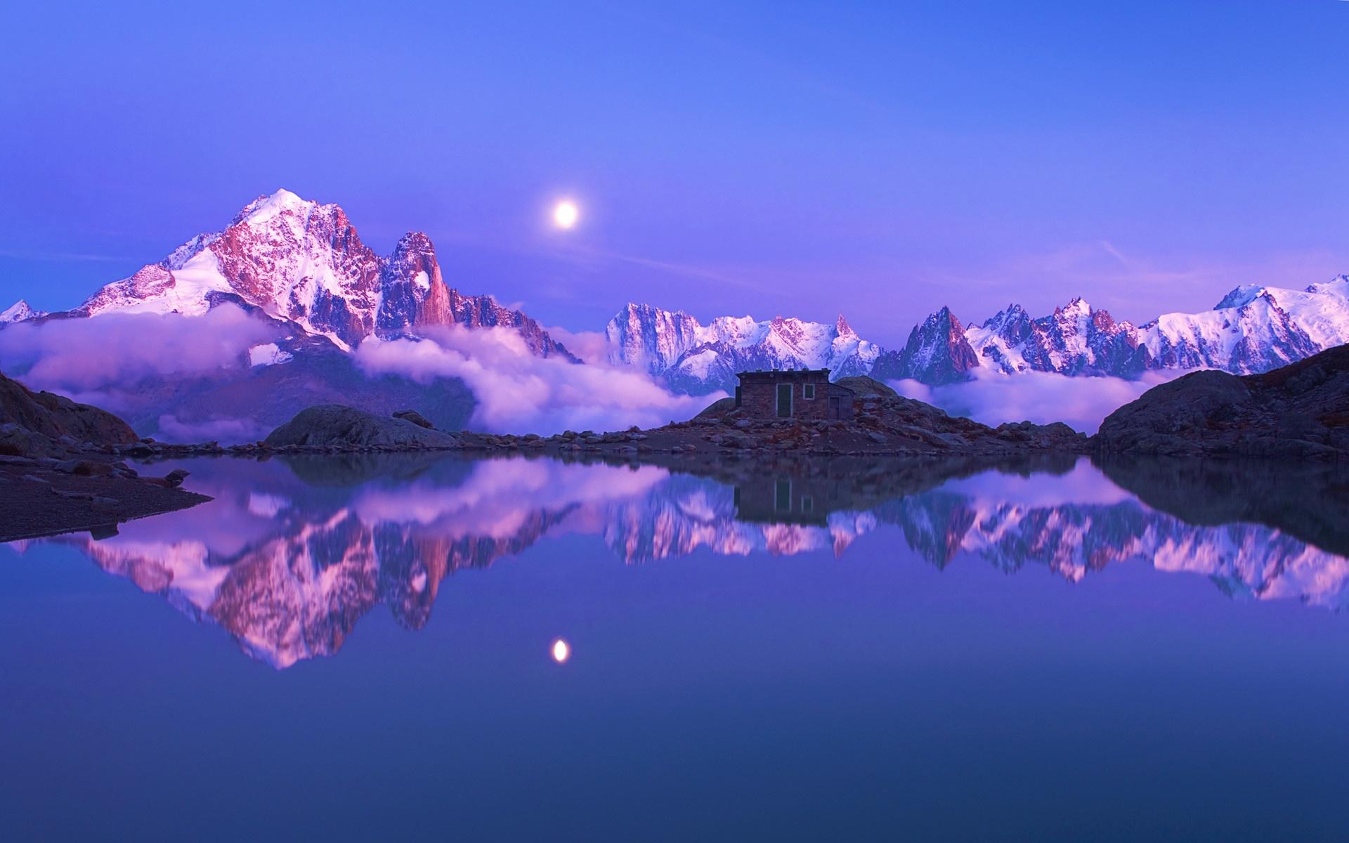 Blue Snow Mountain Landscape 1920 x 1200 Download Close 1920x1200