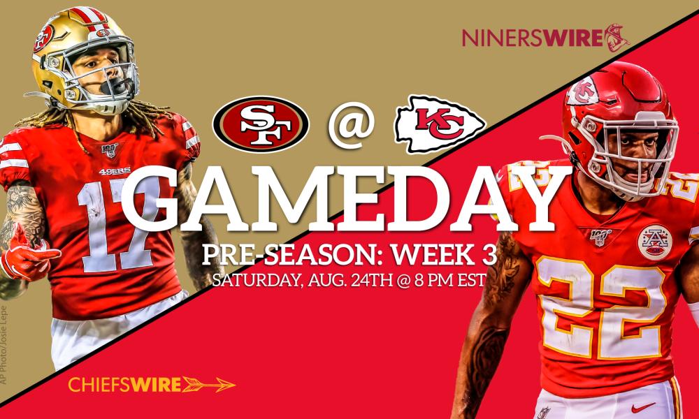 Chiefs vs 49ers Time TV streaming for preseason Week 3 1000x600