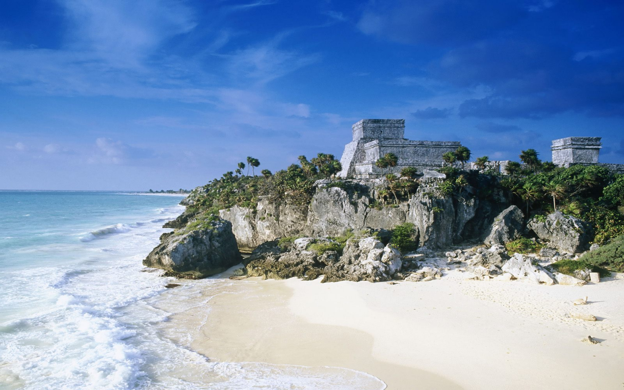 Tulum Beach Mexico Desktop Wallpaper 1280x800