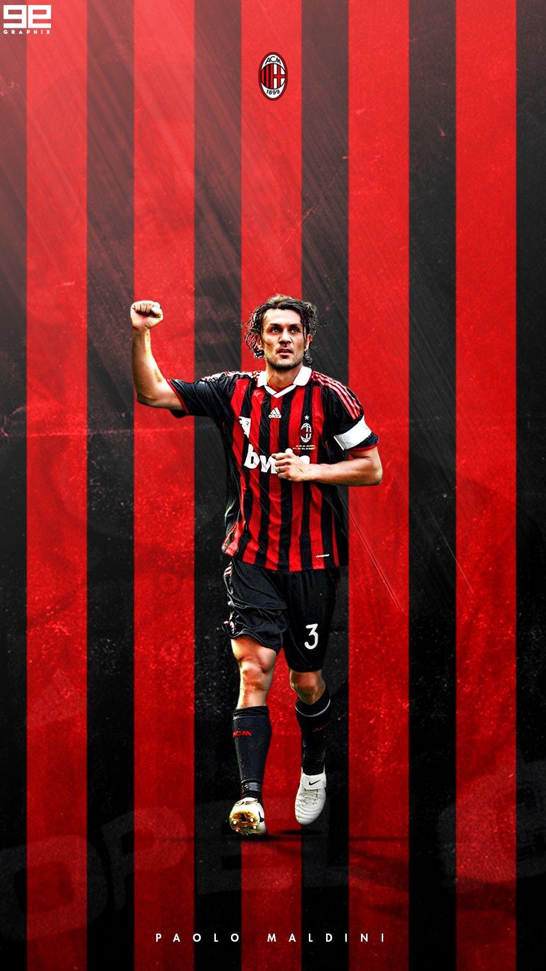 Paolo Maldini AC Milan Soccer Paolo maldini Milan wallpaper 1080x1920