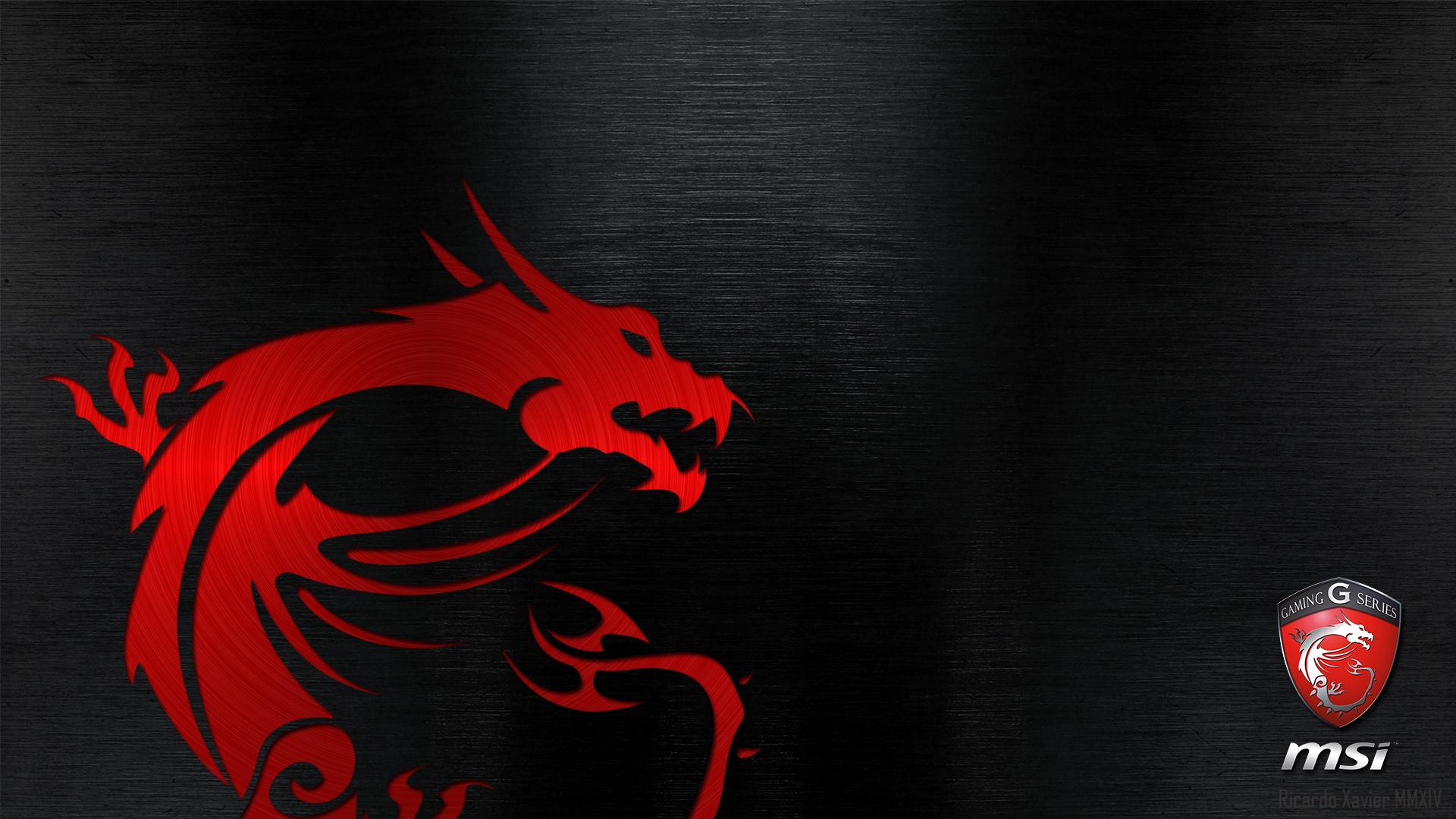 MSI Gaming Wallpaper   red dragon emobossed 19201080 MSI 1920x1080