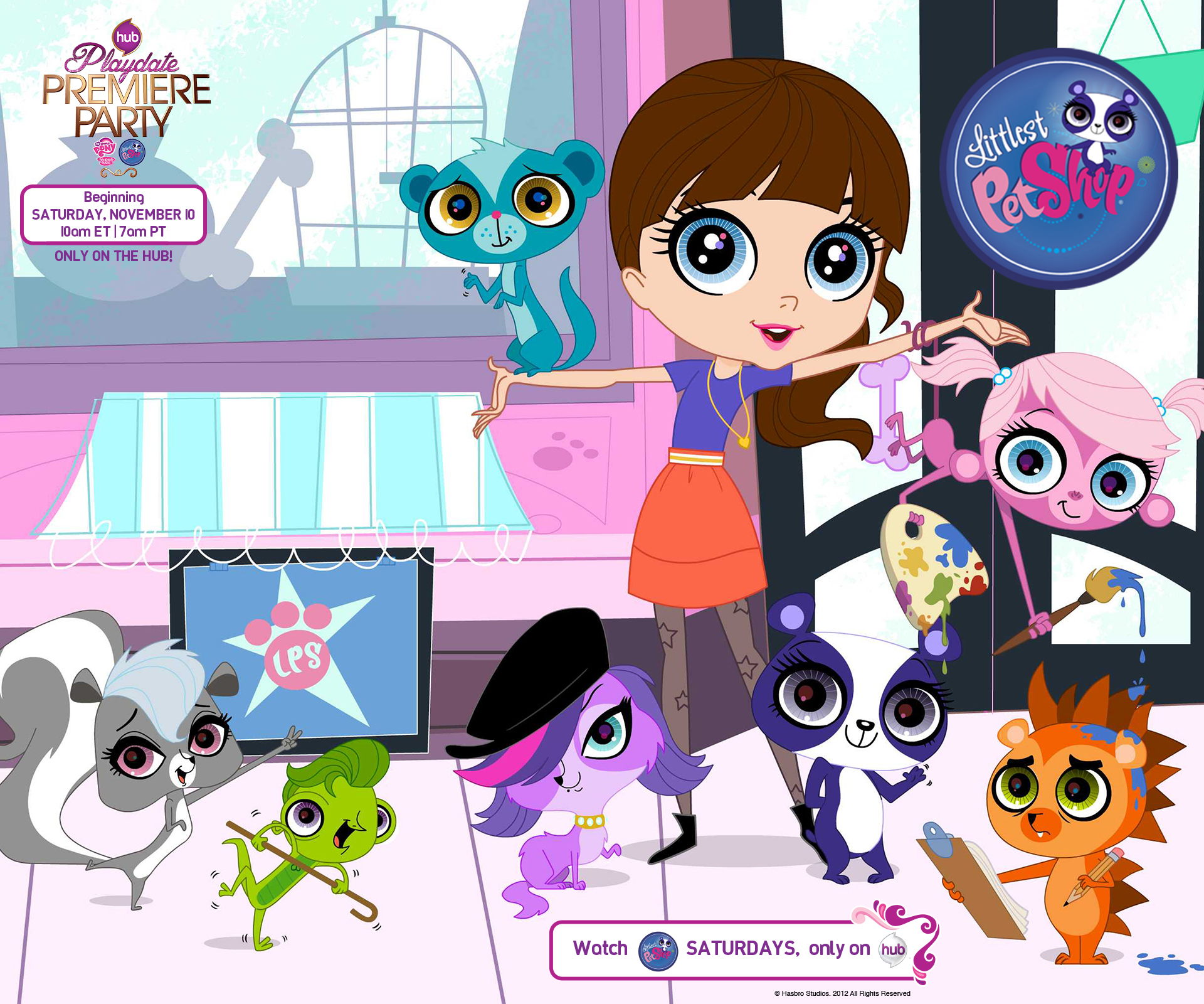 Littlest Pet Shop wallpaper on the Playdate Premiere Party on the Hub 1920x1600