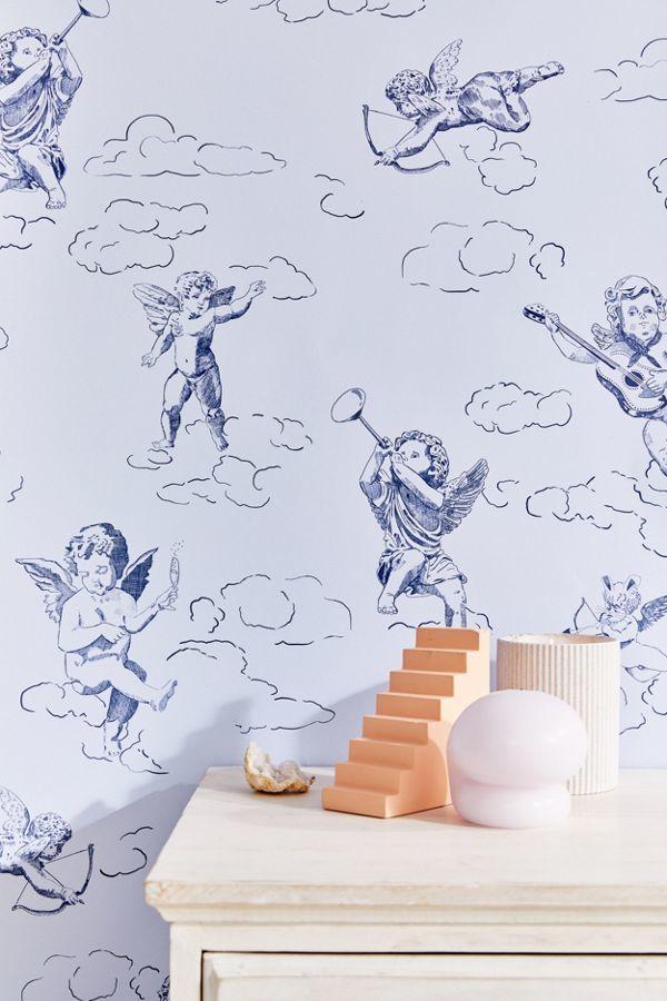 Angel Themed Removable Wallpaper Cherub Removable Wallpaper 600x900