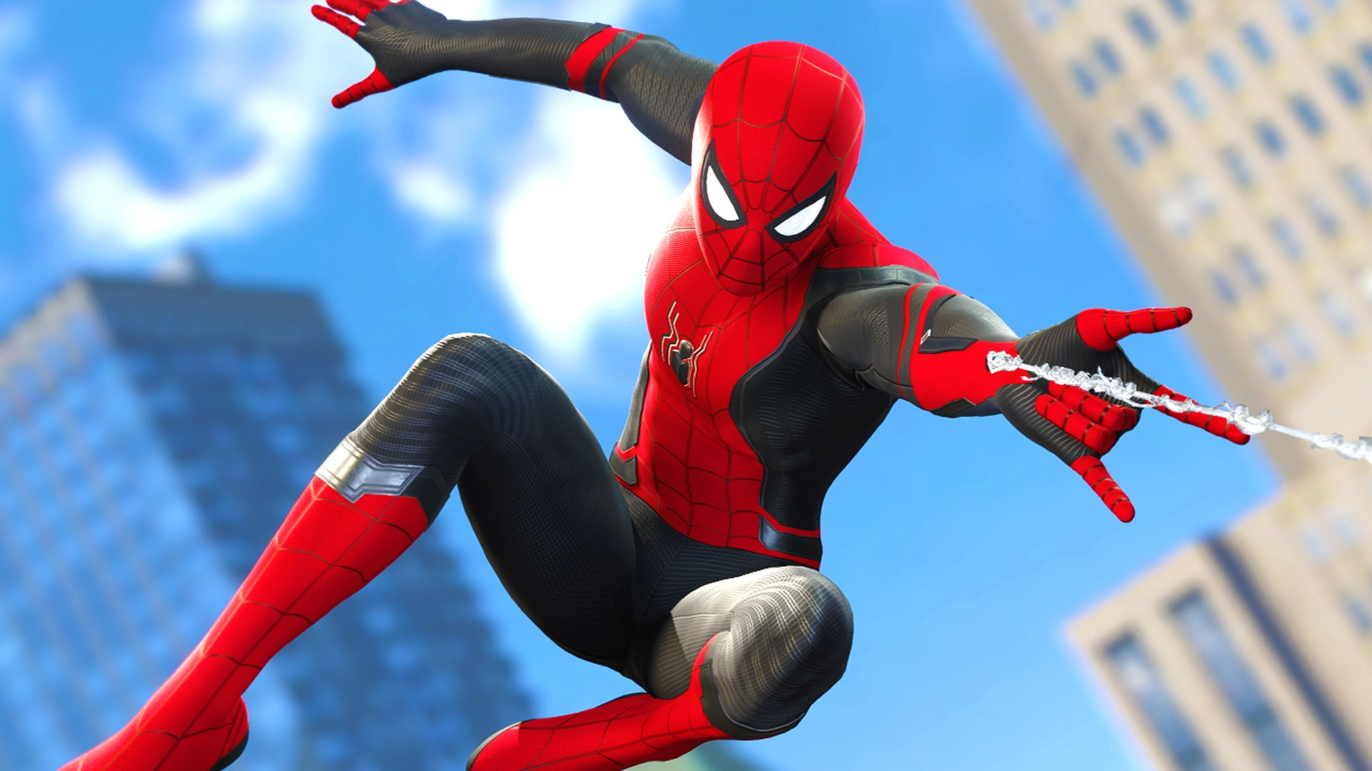 Gameplay of Spider Man Far From Home Suits in Spider Man PS4 1920x1080
