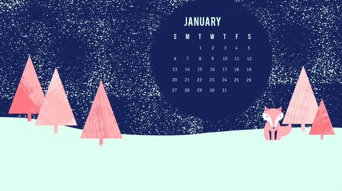 January 2019 HD Calendar Wallpapers Latest Calendar 1130x632