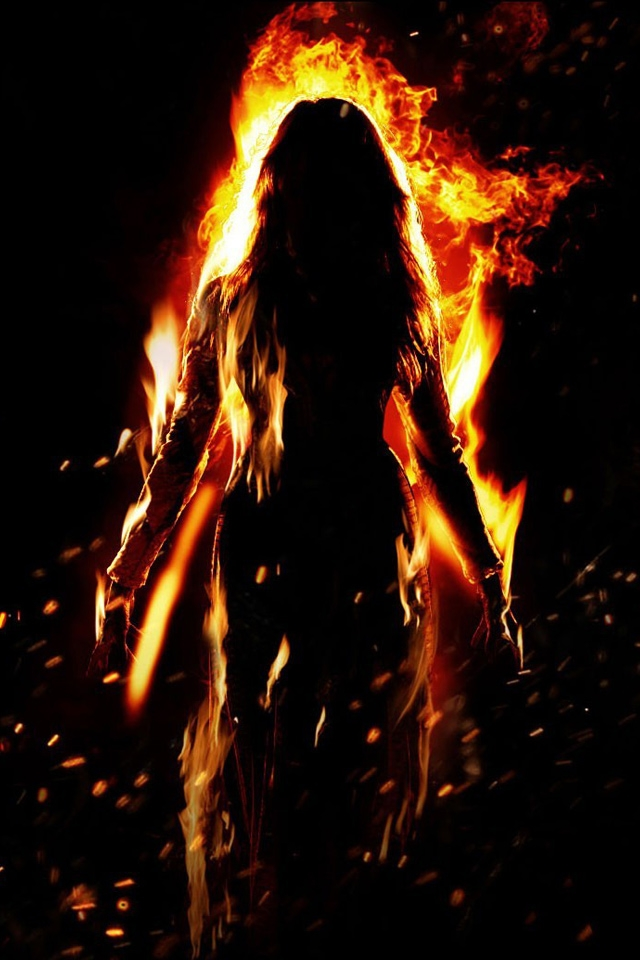 Season of the Witch Fire Witch iPhone HD Wallpaper 640x960