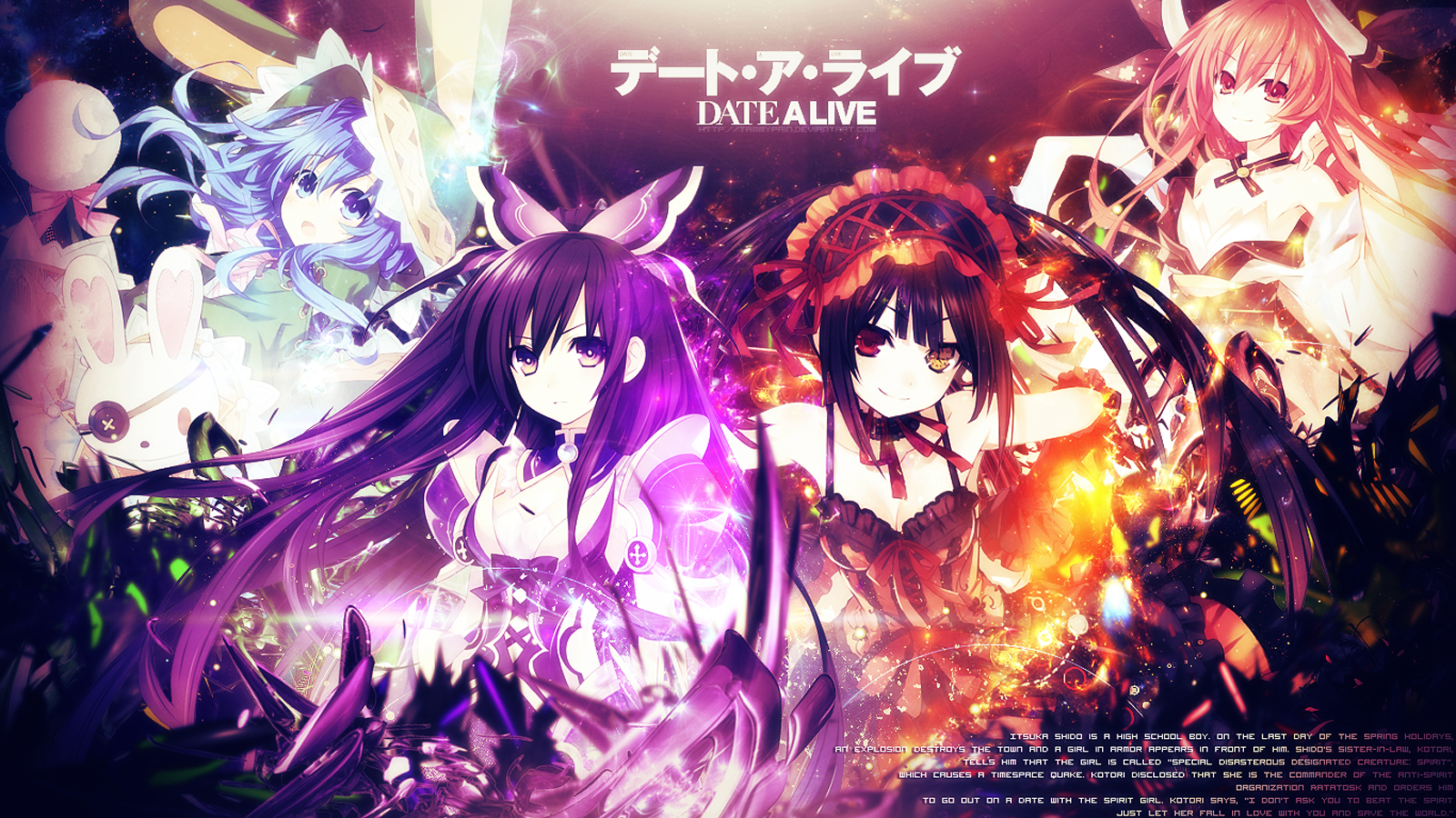 Date A Live Girls 0861 HD Wallpaper 1600x900