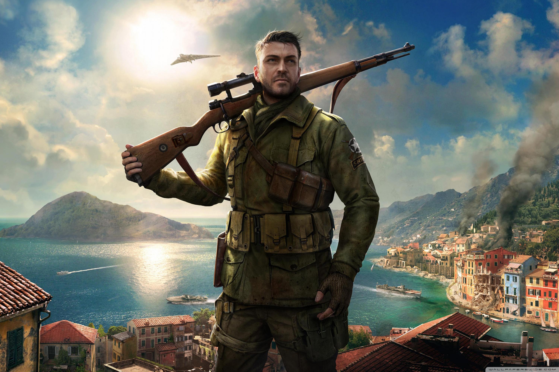 Sniper Elite 4 Game 4k 4K HD Desktop Wallpaper for 4K Ultra HD 3000x2000