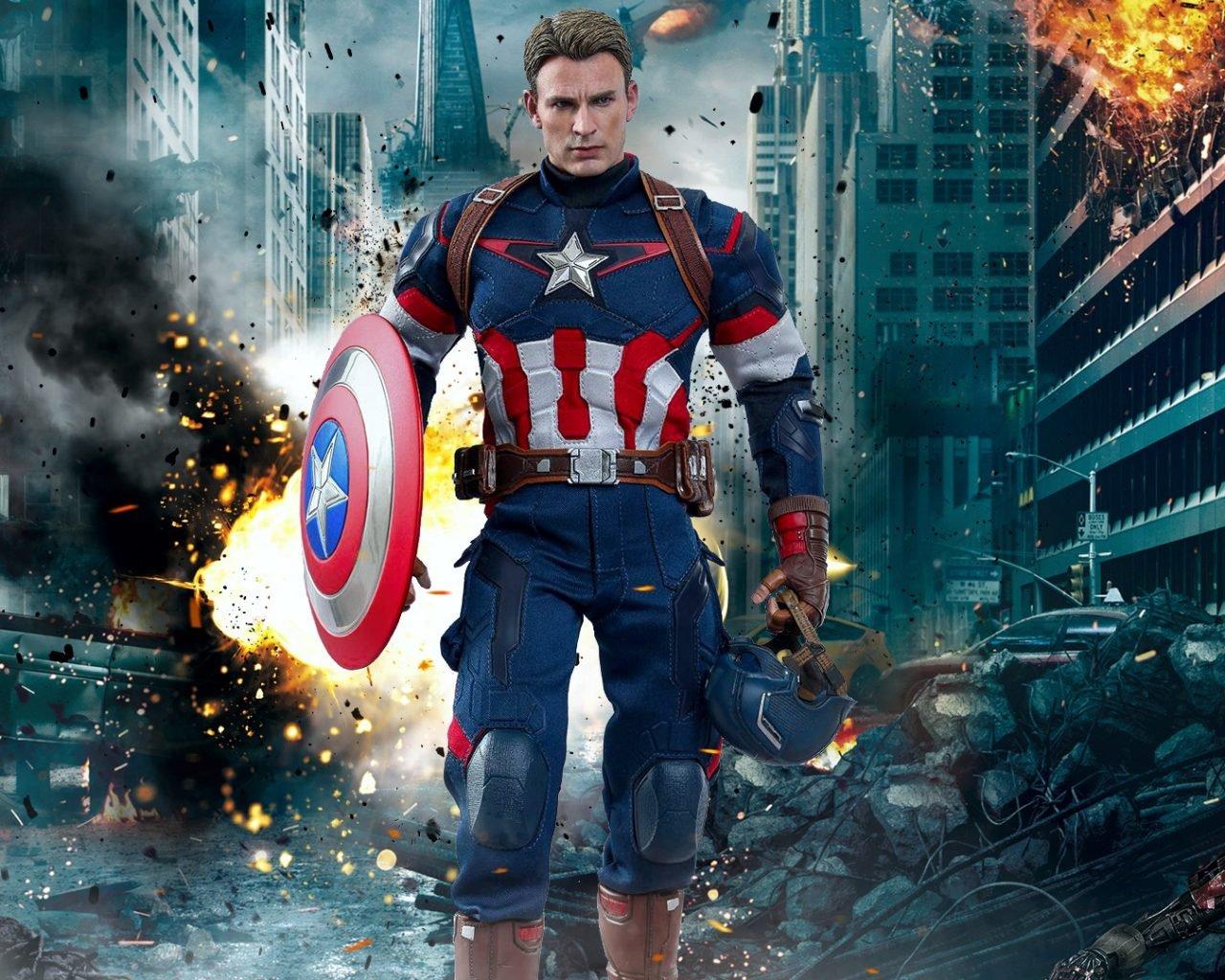 Marvel Captain America Chris Evans The Avengers Age Of 1280x1024
