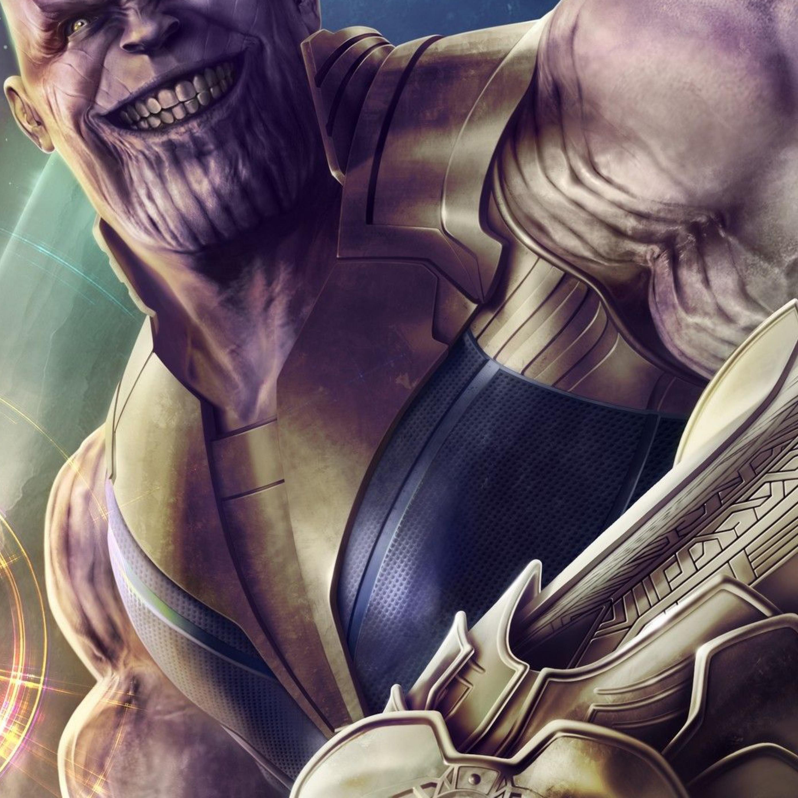 Download Thanos Infinity Stone Artwork Apple iPad Air wallpaper 2780x2780