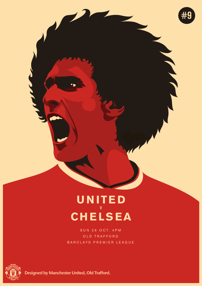 Match poster Manchester United vs Chelsea 26 October 2014 709x1002