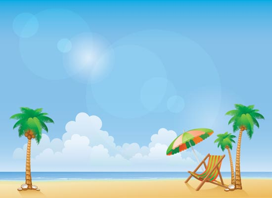 Cartoon Beach Wallpaper: Summer Party Wallpaper