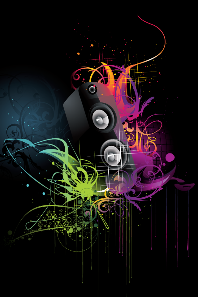 music wallpaper abstract