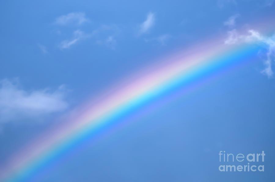 Rainbow On Blue Sky Background A0 Photograph by Ilan Rosen 900x597