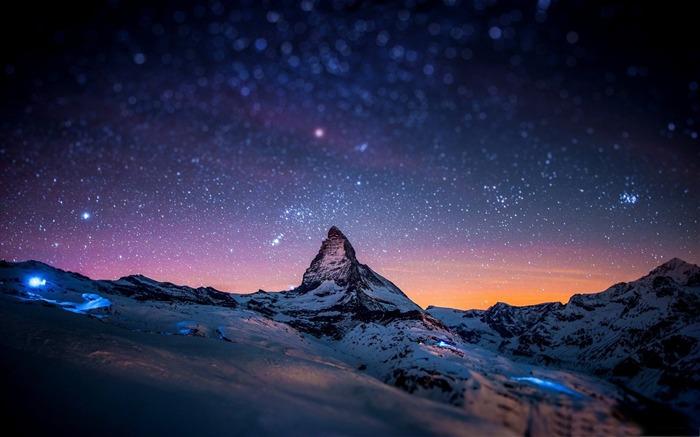 Titlemountain at night Mountain scenery wallpaper Views70532 700x437