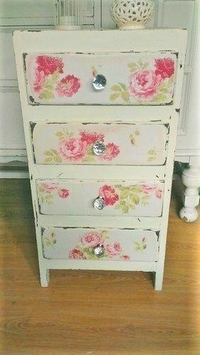 Cath Kidston Antique Rose Wallpaper Decoupage Kit Furniture Craft 282x500