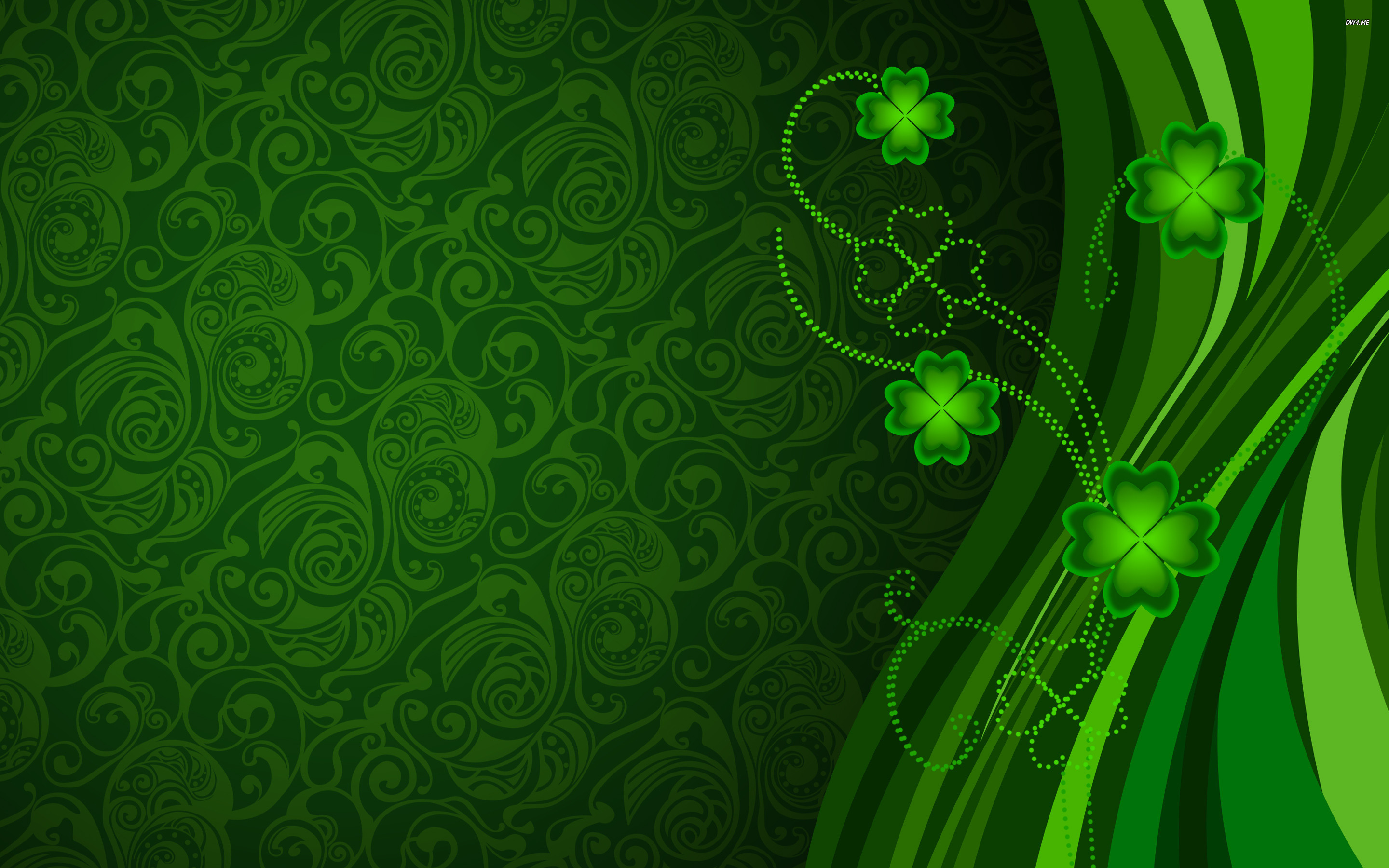 Clovers wallpaper   Holiday wallpapers   2149 2880x1800