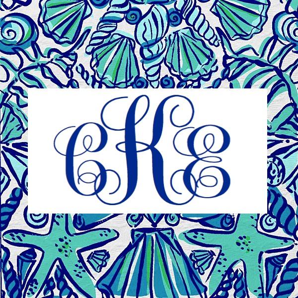 monogram lilly pulitzer desktop wallpaper