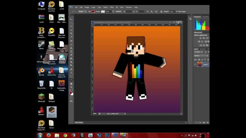 How to make your own minecraft wallpaper using photoshop   Videochart 854x480