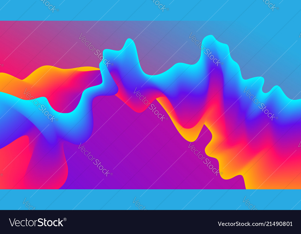 Abstract gradient wavy background futuristic Vector Image 1000x780