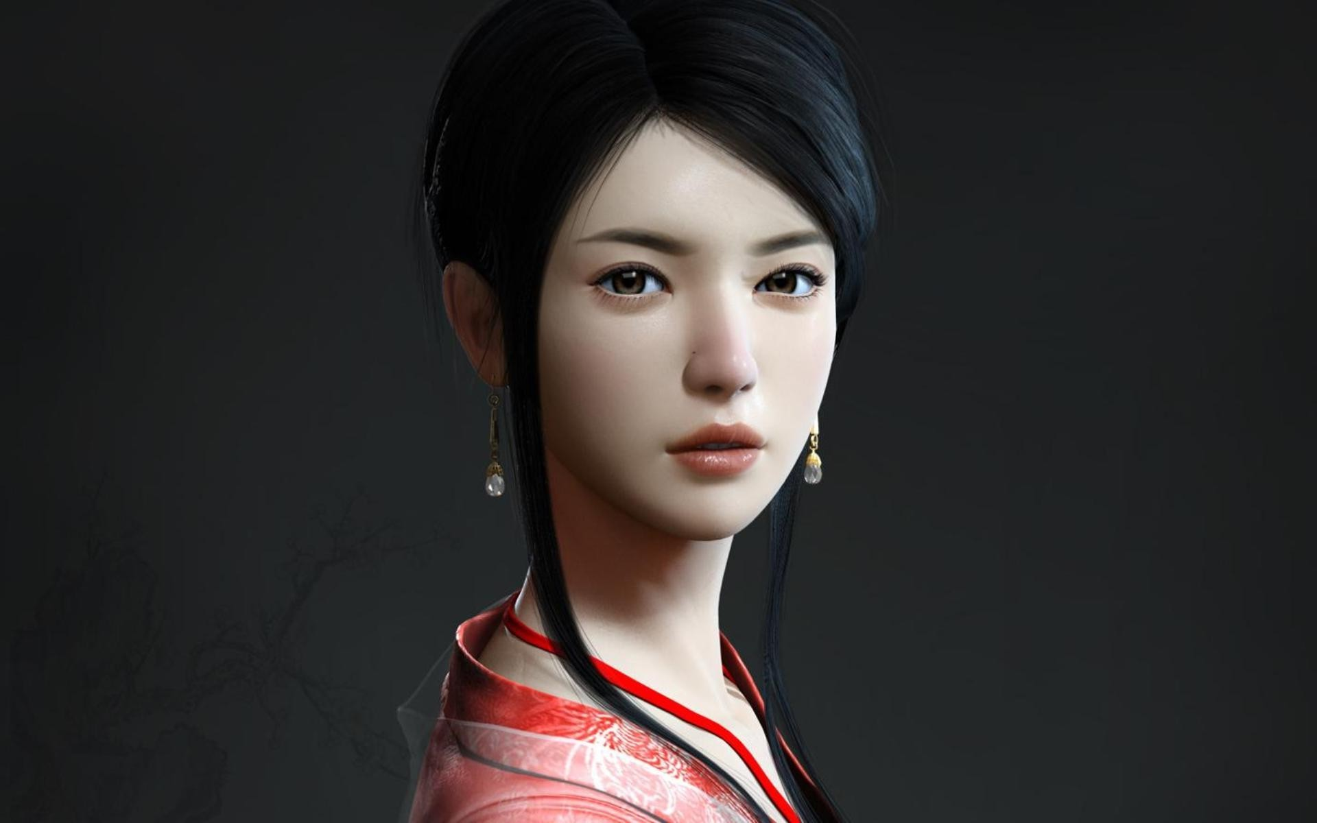 Beautiful geisha wallpaper 5314 1920x1200