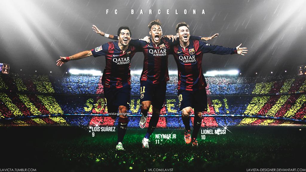 Messi Neymar Suarez FCBarcelona Wallpaper 2015 Cules de fc Barcelona 1024x576