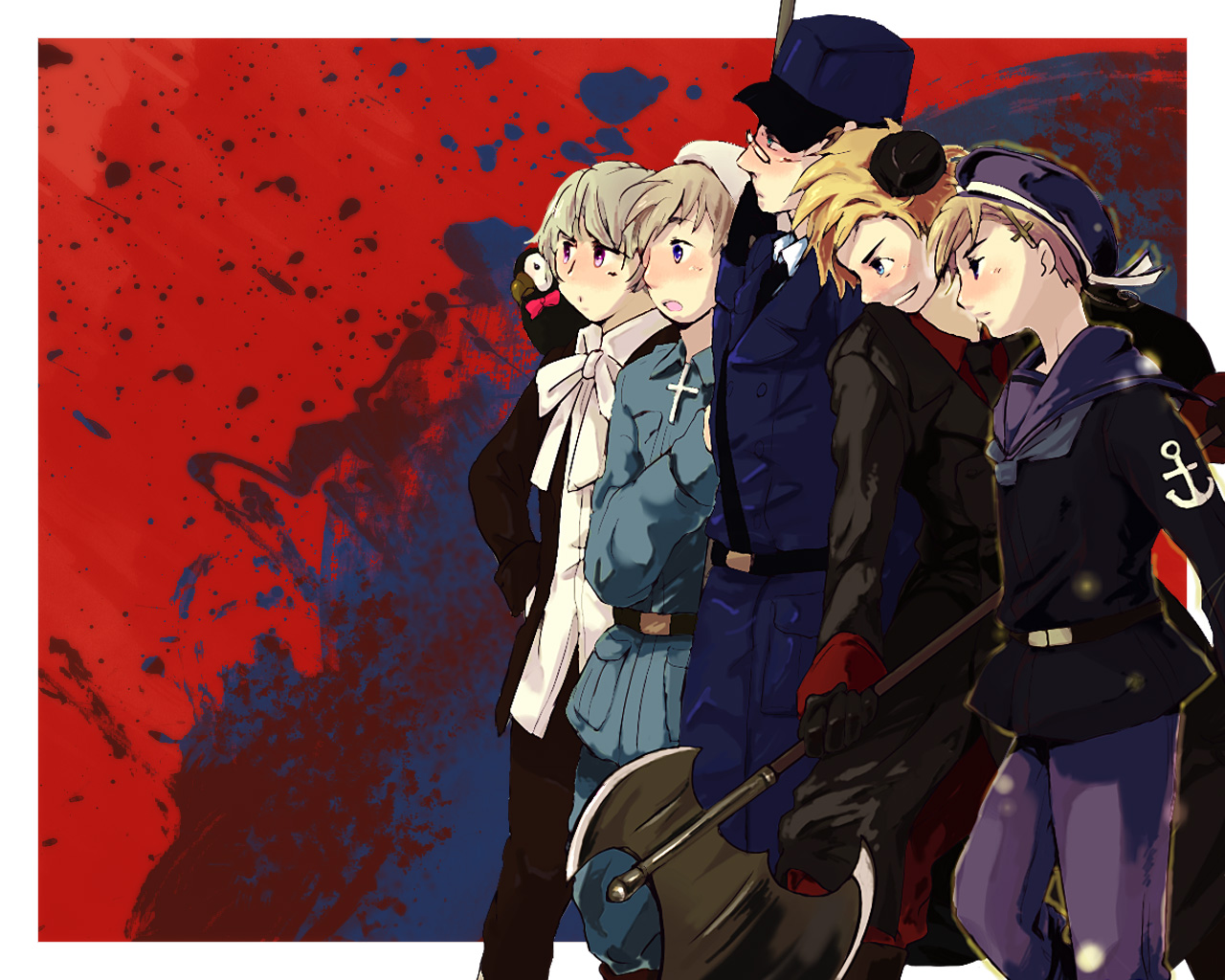 Tags Anime Axis Powers Hetalia Finland Sweden Iceland Denmark 1280x1024