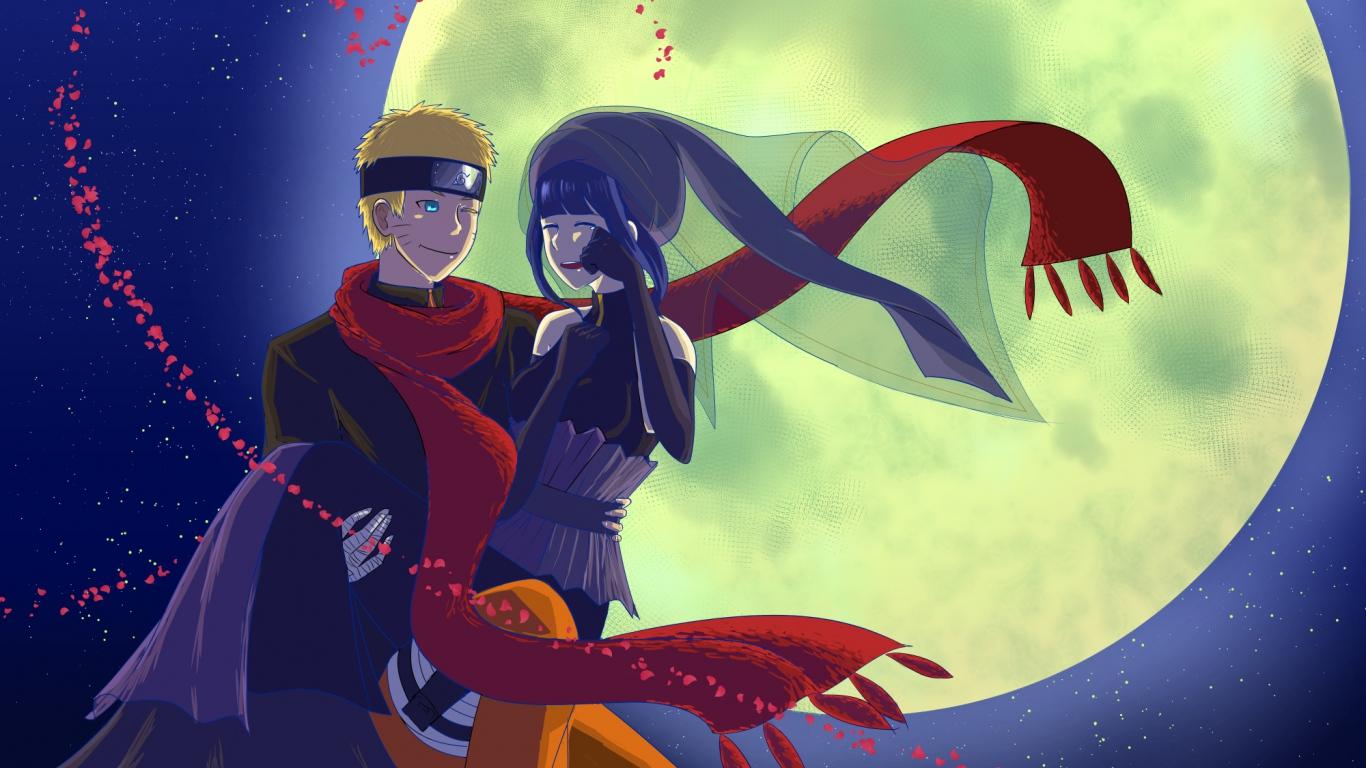 Naruto Uzumaki Hinata Hyuga Love Wallpaper 1366x768