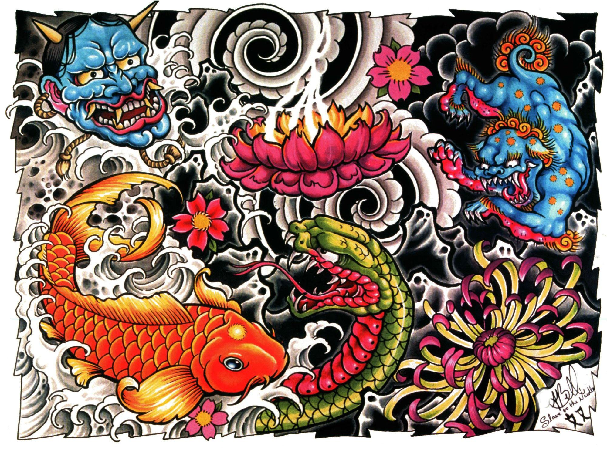 Tattoo Backgrounds Wallpapersafari