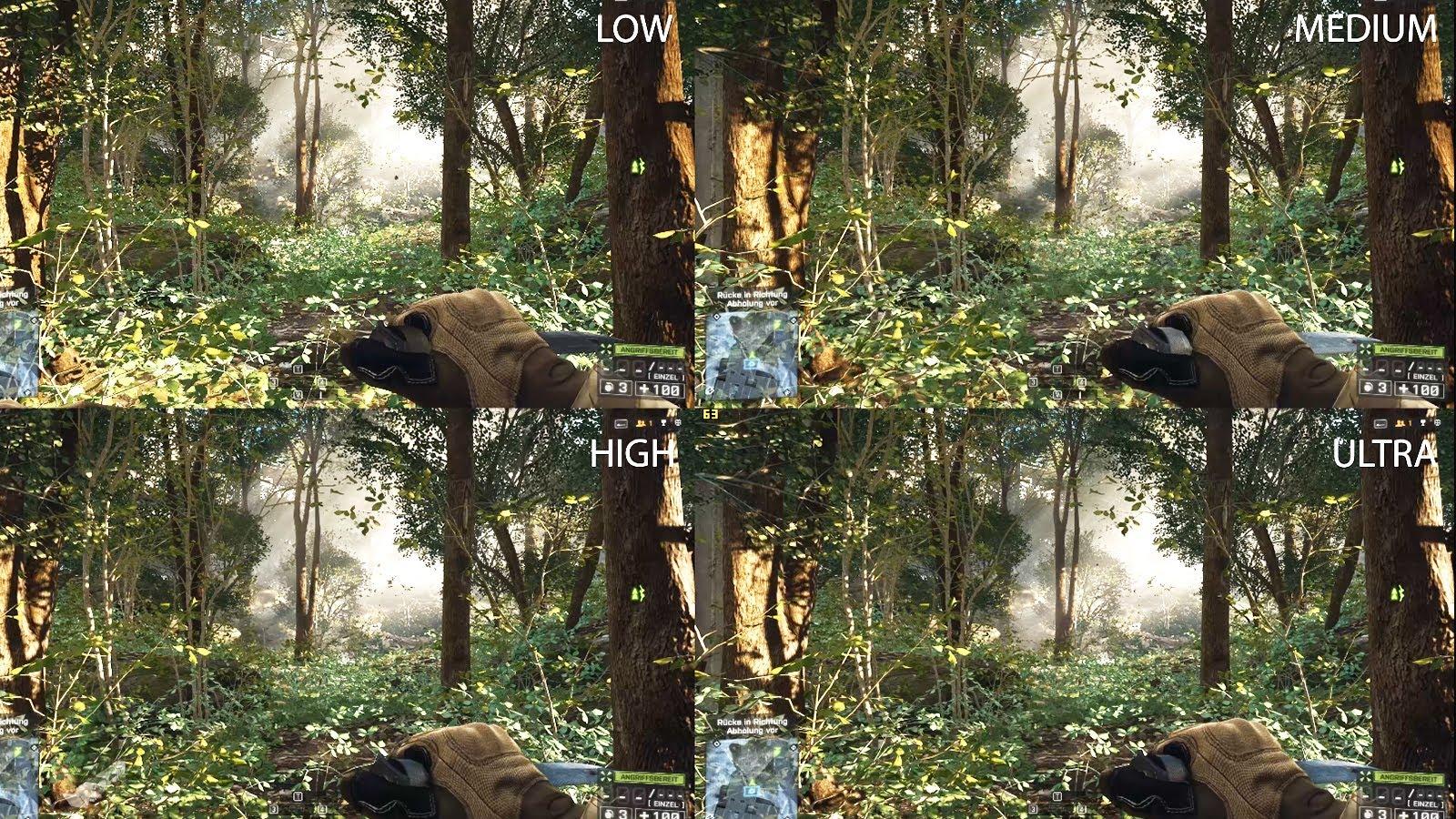 Battlefield 4   Settings Comparison   4K UHD   MRGV 1600x900