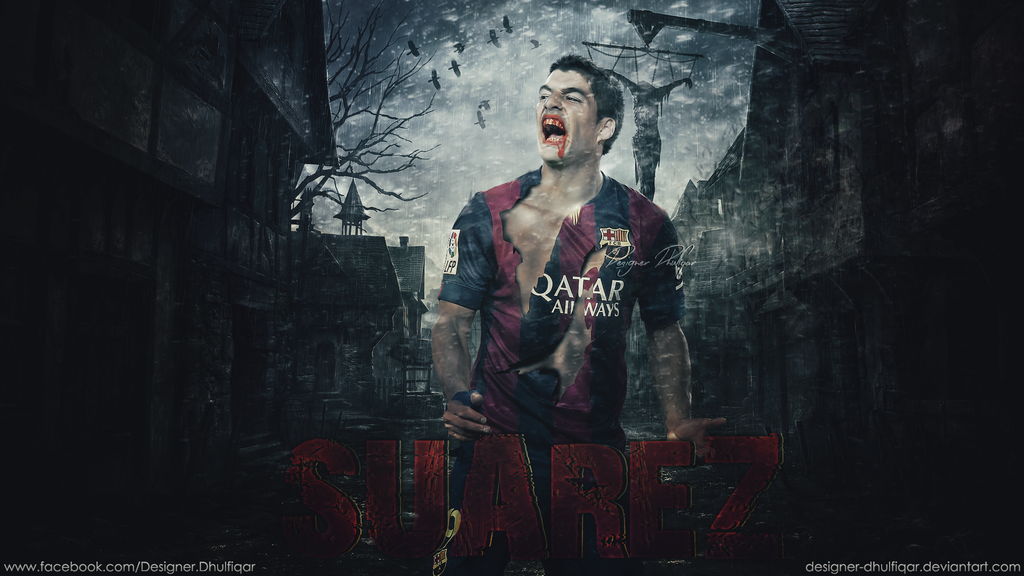 Luis Suarez   FC Barcelona by Designer Dhulfiqar   Football Wallpaper 1024x576