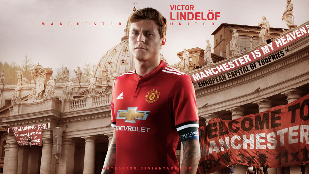 Victor Lindelof Manchester United 2017 Wallpaper by ArtsGFX99 on 1024x576