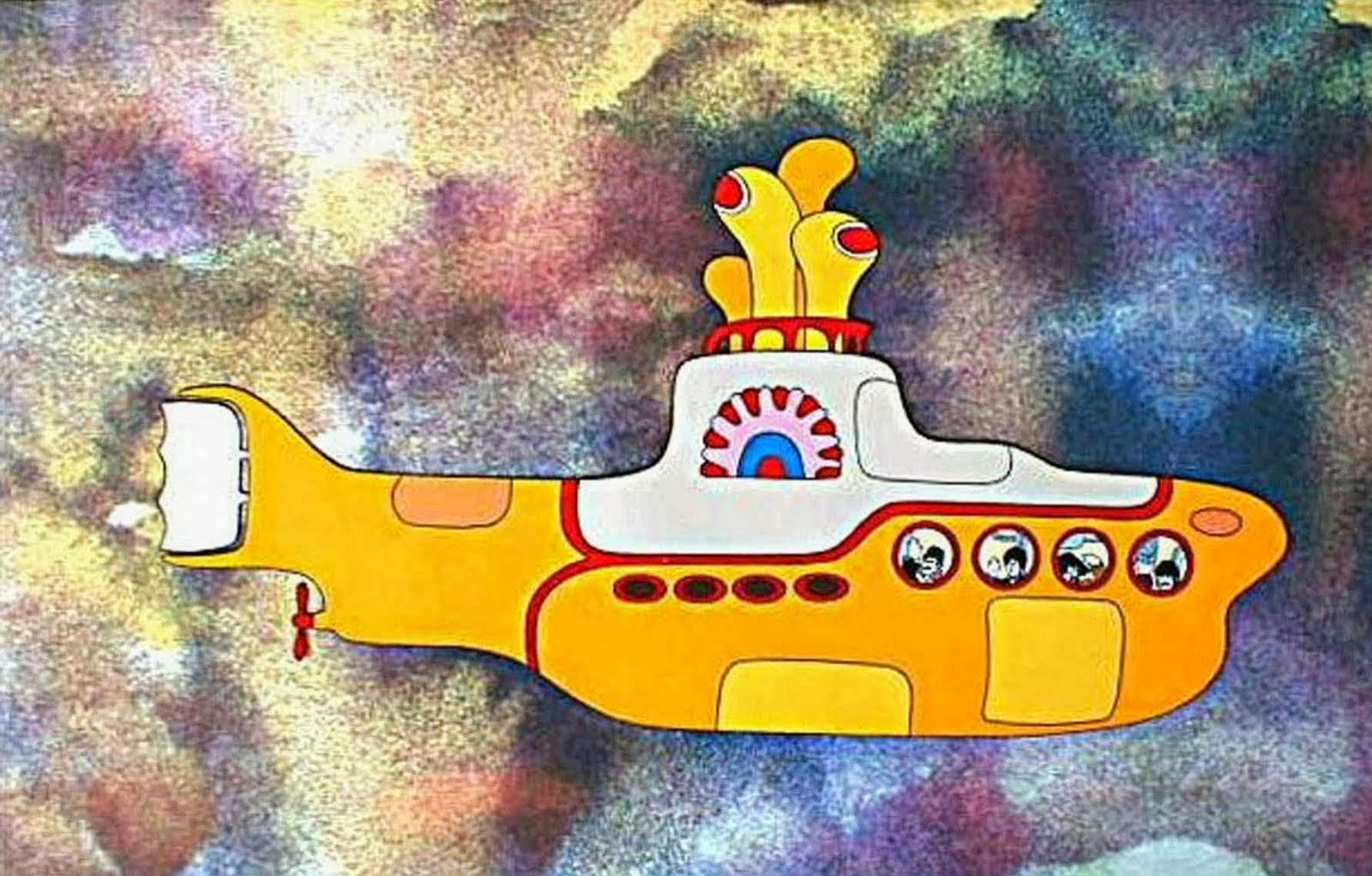 Acme beatles yellow submarine rollerball pen and card case limited edition set - card case - close-up