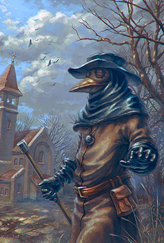 plague doctor by AnekaShu 676x1000