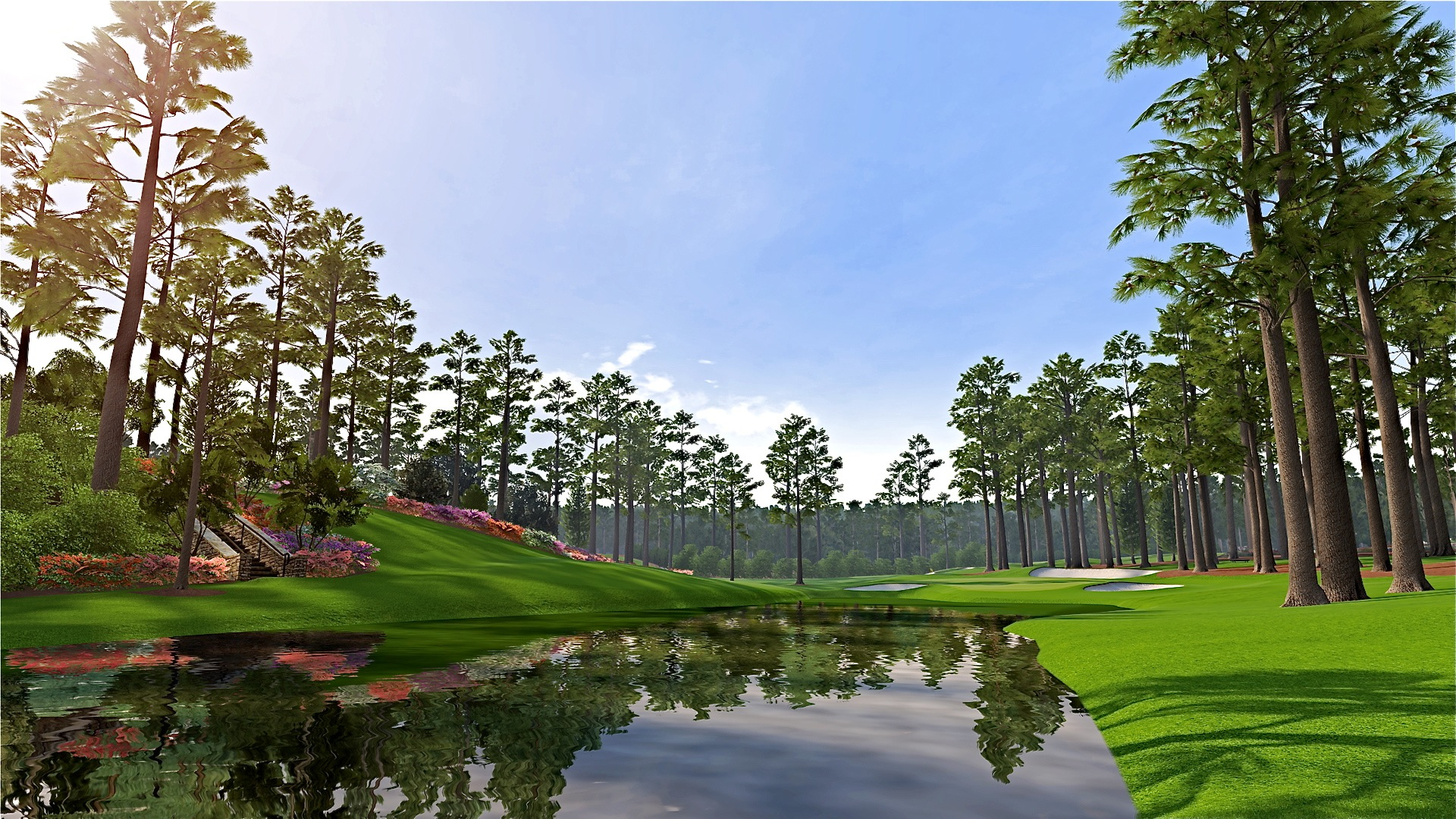 Augusta national wallpaper wallpapersafari for Augusta national wall mural